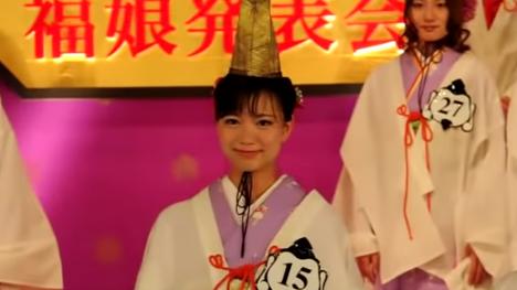 可愛い斎藤真美アナは大学時代に福娘に選出