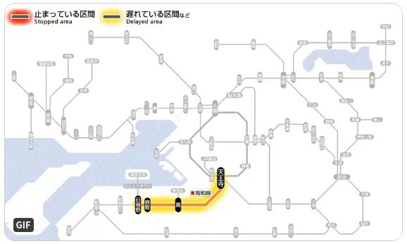 【遅延】阪和線 鳳〜津久野駅間で線路内に人が立ち入り/踏切10分程度開かず!3月9日