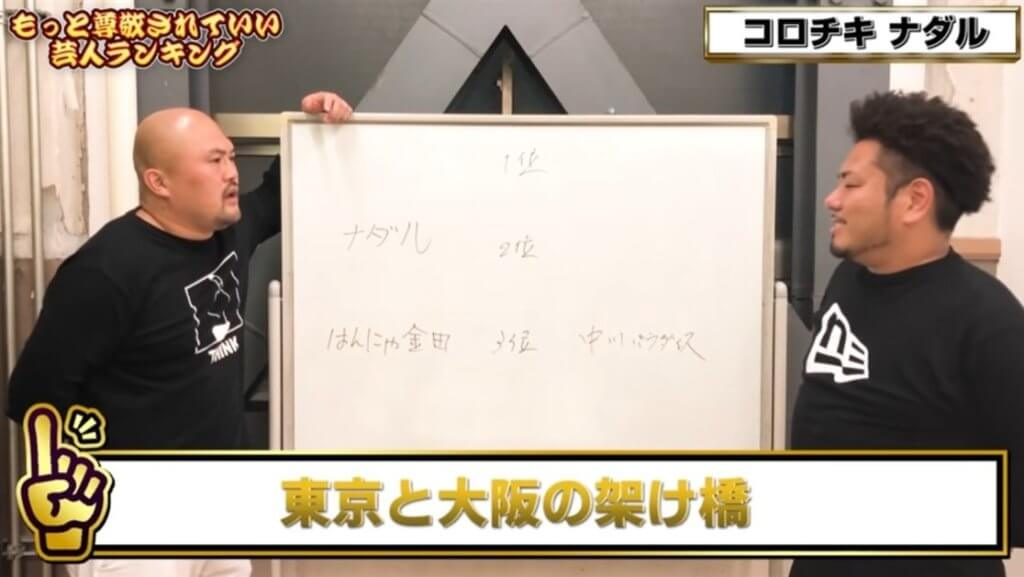 [コロチキ]ナダルは東京芸人と大阪芸人の架け橋的存在